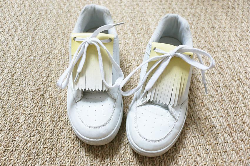 fabriquer des franges pour mes chaussures les minuscules. Black Bedroom Furniture Sets. Home Design Ideas